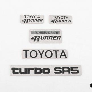 Emblem Set Toyota 4runner 1985